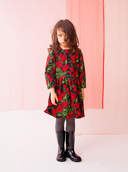 CHALK N CHEESE Lulu Tulips Dress - RedHill Childrenswear