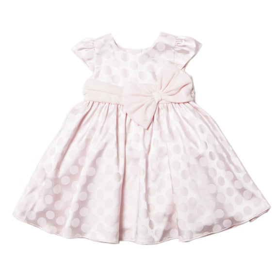 Bebe Pink Sateen Bow Dress - RedHill Childrenswear