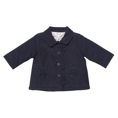 BEBE Olive Padded Navy Jacket - RedHill Childrenswear