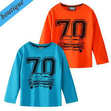 Urban crusade Boys Orange Car LS Tee - RedHill Childrenswear