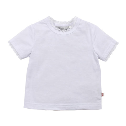 BEBE Emmy SS Tee with Lace Trim XS15-186 - RedHill Childrenswear
