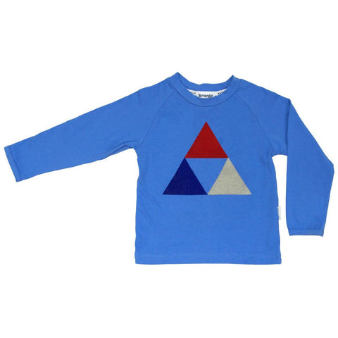 KORANGO Blue Tri Action Felt Print Tee - RedHill Childrenswear