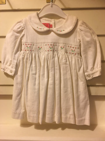 Baby by Yianna Petit Girls White Smock Dress - RedHill Childrenswear