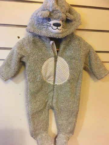 BQT Baby Grey Fleece Onesie/Romper
