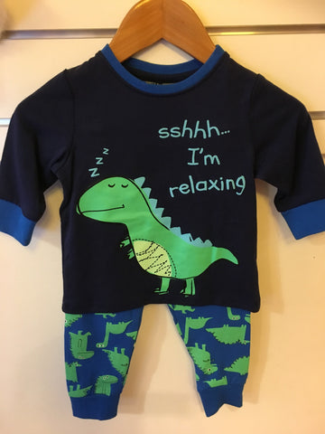Under Cover Crew Baby Boys Navy Dino Pyjamas