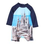 Bebe Luke L/S Bk Zip Castle Sun Suit