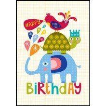 Little Red Owl Animal Stack Birthday Card