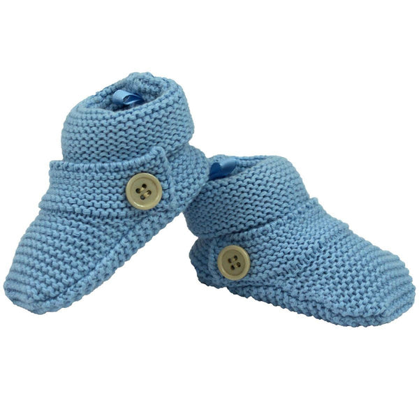 Korango Blue Knit Booties - RedHill Childrenswear
