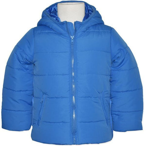Boys Blue Puffer Hooded Jacket - RedHill Childrenswear