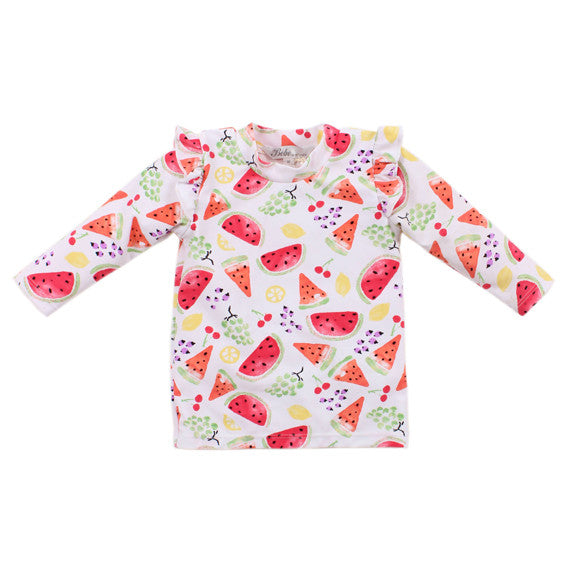 BEBE Violet LS Sun Top with Frill - RedHill Childrenswear