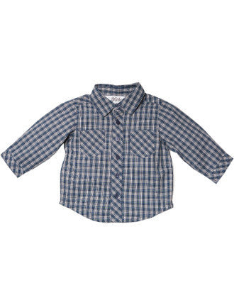 BEBE Ricky Jersey Back Check Shirt - RedHill Childrenswear