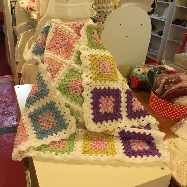 Handmade Childs Crochet Blanket - RedHill Childrenswear