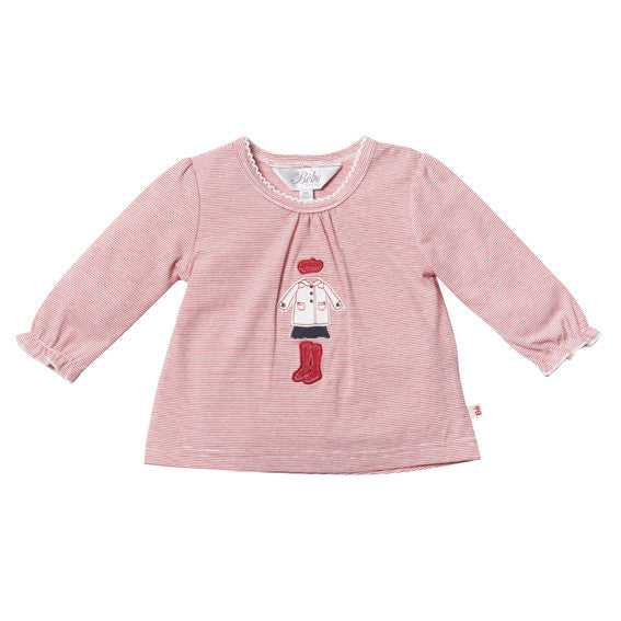 Bebe Maddy Applique LS Tee - RedHill Childrenswear
