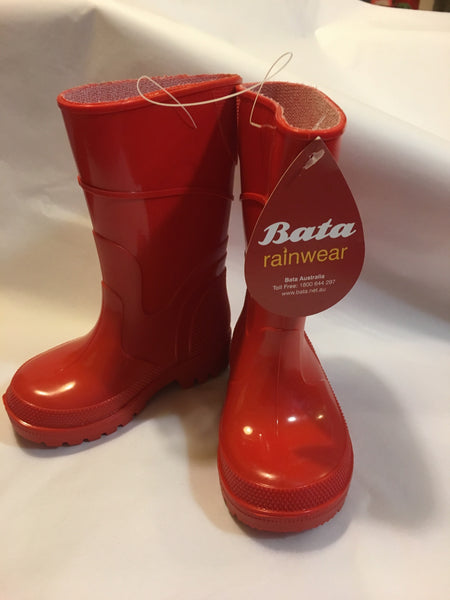 Bata Red with Red Gumboots