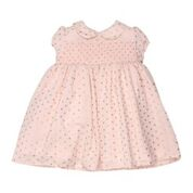 Bebe OS Pale Pink with Gold Spot Dress - RedHill Childrenswear