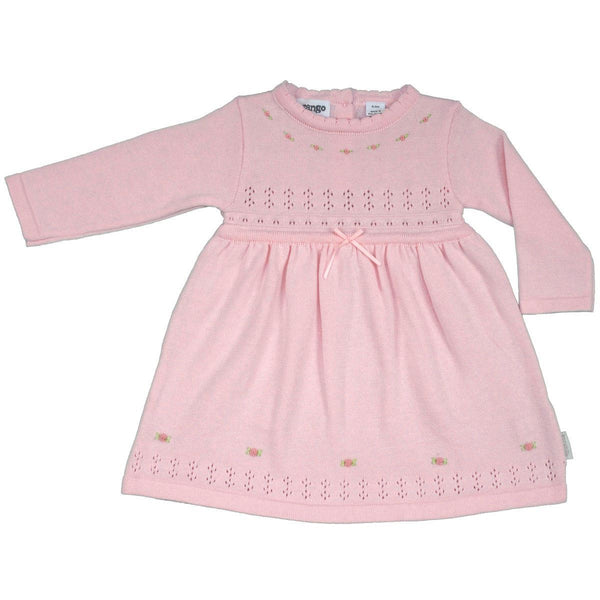 KORANGO Pink Rosettes Knit Dress - RedHill Childrenswear