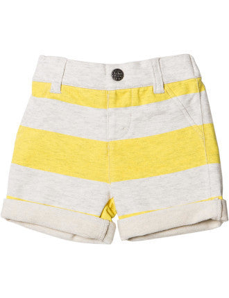 Bebe Oliver Striped French Terry Shorts - RedHill Childrenswear