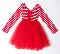 Designer Kidz Red Stripe Bow Tutu - RedHill Childrenswear