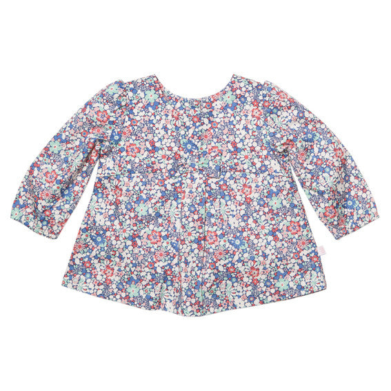 Bebe Lulu Print Top w Bow - RedHill Childrenswear