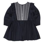 Fox & Finch Brittany Navy Embroidered Party Dress