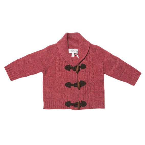 BEBE George Red Cable Knit Cardigan - RedHill Childrenswear