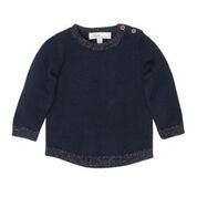 BEBE Elsie Tiny Knot Navy Jumper