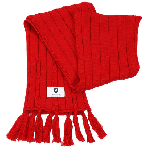 KORANGO Red Pure Patterns Cable Knit Scarf - RedHill Childrenswear
