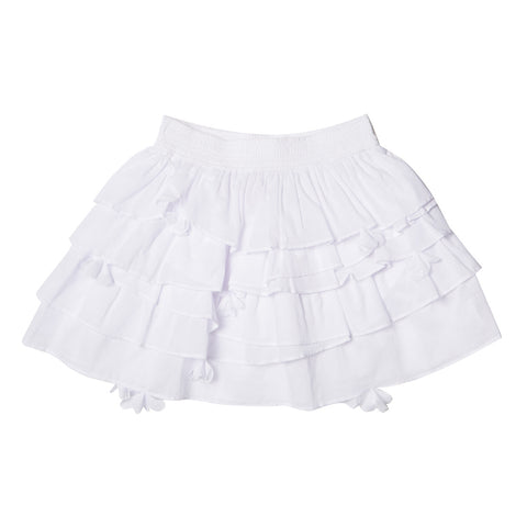 Tahlia Zuma White Tiered Skirt - RedHill Childrenswear