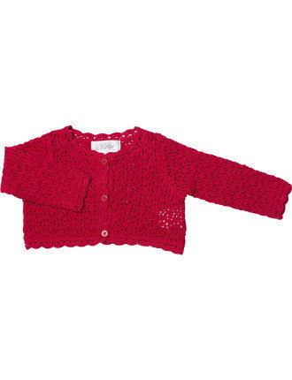 BEBE Baby Girls Crochet Cardigan - RedHill Childrenswear