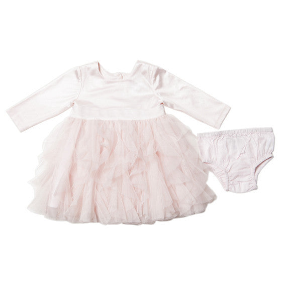 Bebe Pink Dress with Tulle Skirt - RedHill Childrenswear