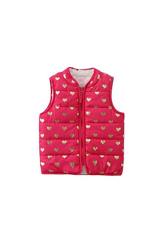 Funky Babe Girls Hot Pink Puffa Vest
