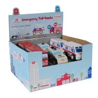 Tiger TribePull Back Emergency Vehicles - RedHill Childrenswear
