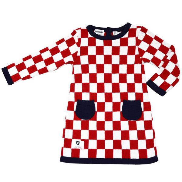 KORANGO Red Pure Patterns A Line Check Dress - RedHill Childrenswear