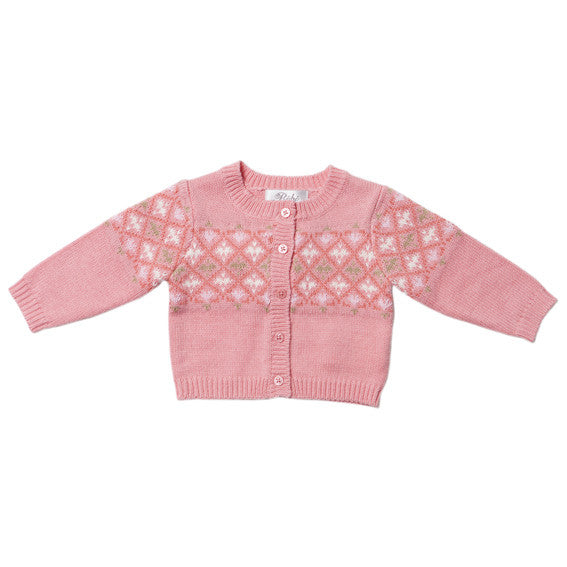 BEBE Layla Fairisle Cardigan - RedHill Childrenswear