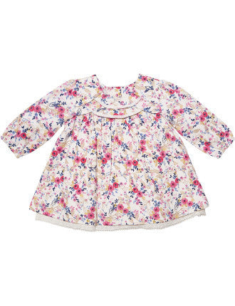 BEBE Harper Print LS Dress - RedHill Childrenswear
