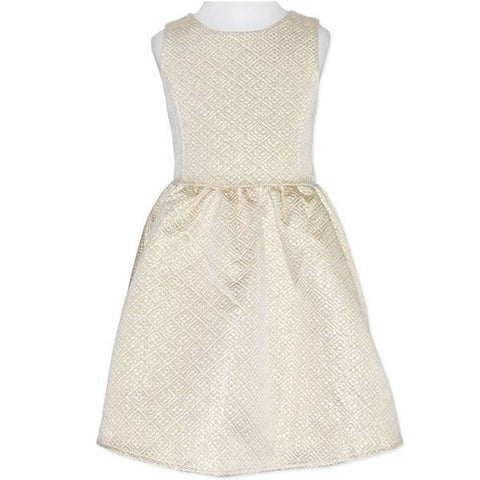 Candy Stripes Golden Thread Dress - RedHill Childrenswear