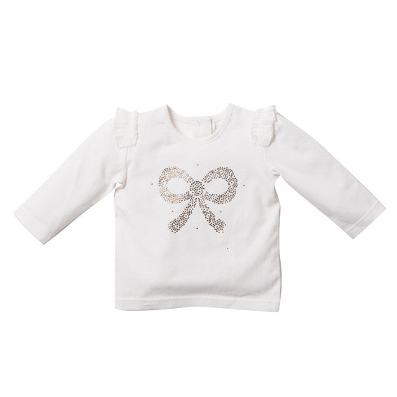 Fox and Finch Chantilly Bow Tee - RedHill Childrenswear