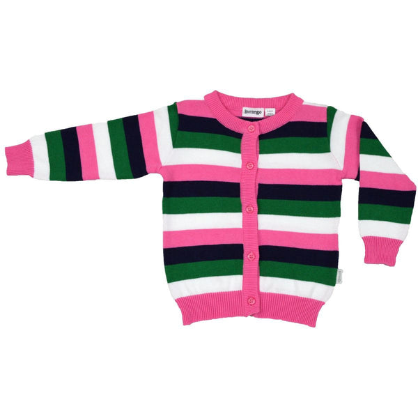 KORANGO White Girls Stripe Cardigan - RedHill Childrenswear