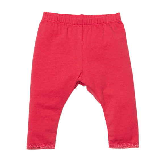 Bebe Teaberry Lace Leggings - RedHill Childrenswear