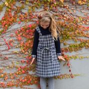 Chalk n Cheese Sammy Blue Tartan Wool Dress - RedHill Childrenswear