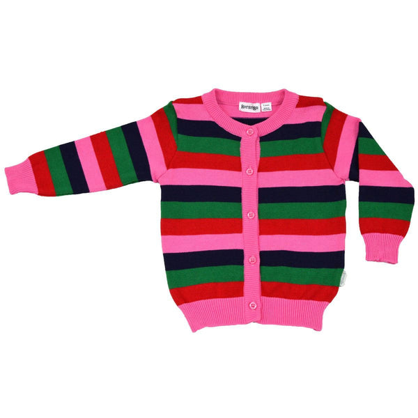 KORANGO Red Stripes Girls Cardigan - RedHill Childrenswear
