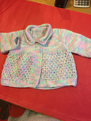 Handmade Knitted Multi Coloured Cardigan - RedHill Childrenswear