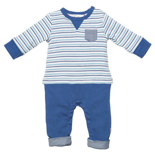 BEBE Brody Striped Romper - RedHill Childrenswear