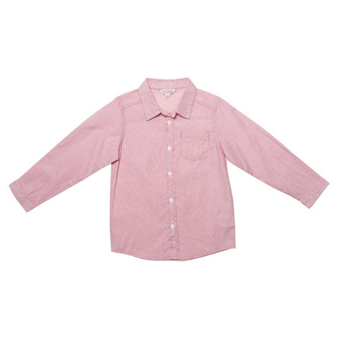 Fox and Finch Boys Micro Stripe Red Shirt - RedHill Childrenswear