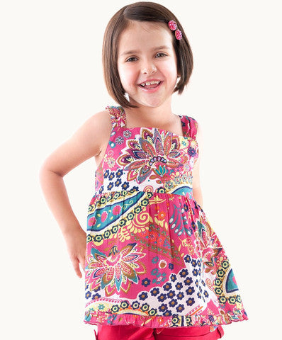ETERNAL CREATION Hopscotch Embroidered Top - RedHill Childrenswear