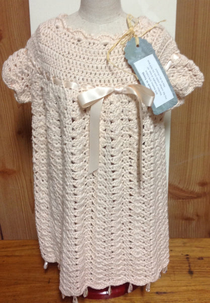 Handmade Crochet Pink Dress - RedHill Childrenswear