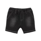 Fox & Finch Zoology French Terry Black Denim Shorts