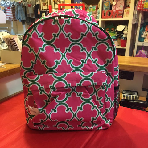 Large Backpack Pink and Green - RedHill Childrenswear