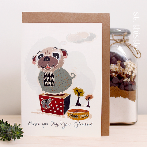 St Thistle Dig Your Present Card - RedHill Childrenswear