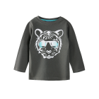 Urban Crusade Boys Charcoal LS Tiger Tee - RedHill Childrenswear